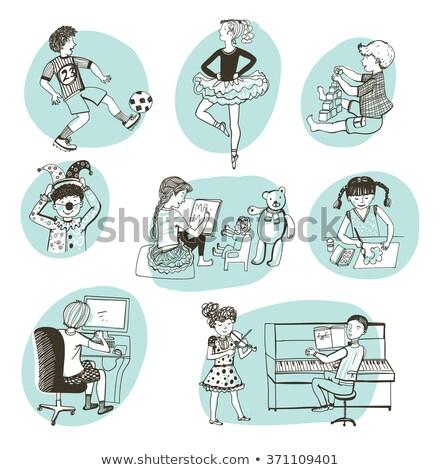 Olvas iskolások könyv klub vektor kép Stock fotó © robuart