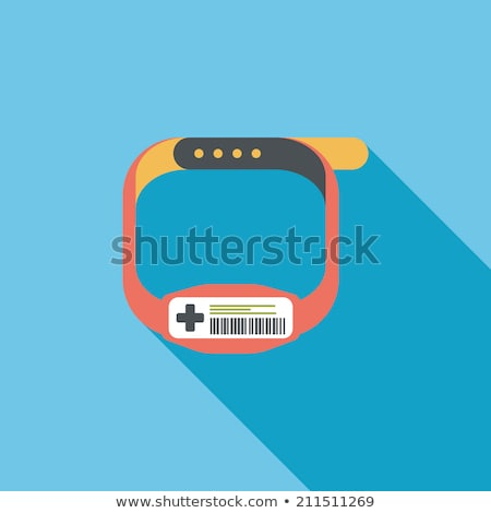 Wrist bracelet flat vector illustration Stock photo © barsrsind
