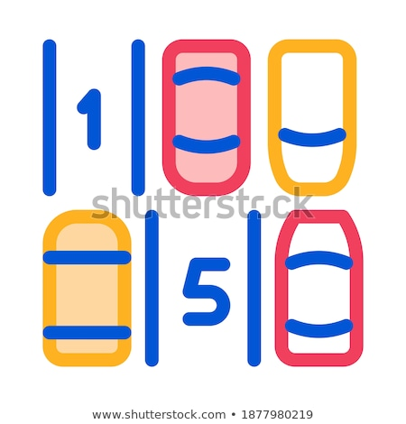 Parking Place Numbering Icon Vector Outline Illustration Stock photo © pikepicture
