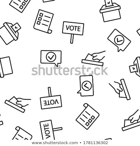 Verkiezing vector dun lijn Stockfoto © pikepicture