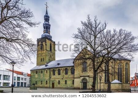 Kościoła Niemcy niebo zielone podróży Chmura Zdjęcia stock © borisb17