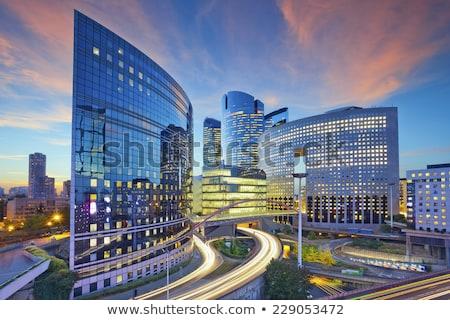 Buitenkant tijdgenoot hoog kantoorgebouw outdoor Stockfoto © pressmaster