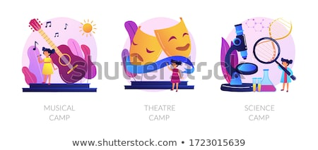 Kids creative and science camps vector concept metaphors Stock photo © RAStudio