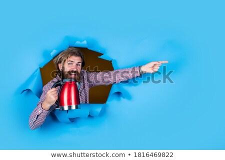 Men Holding Electric Kettle, Shopping Appliances Stock photo © robuart