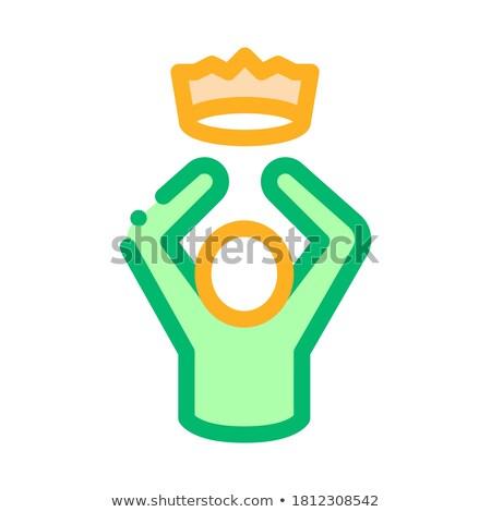 Re corona umani talento icona vettore Foto d'archivio © pikepicture