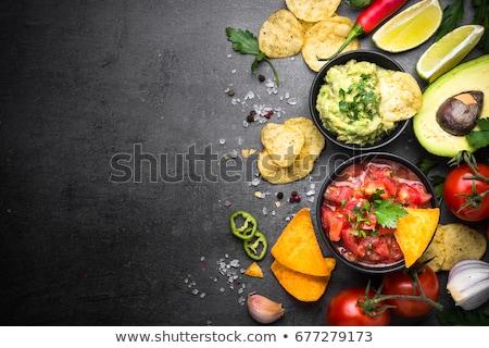 サルサ チップ ナチョス テキーラ 伝統的な メキシコ料理 ストックフォト © furmanphoto