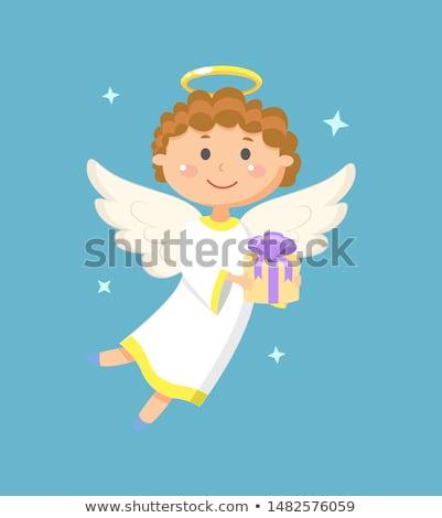 Anjos crianças presentes saudação férias angélico Foto stock © robuart