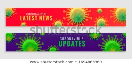Zestaw koronawirus wiadomości banery zdrowia komórek Zdjęcia stock © SArts