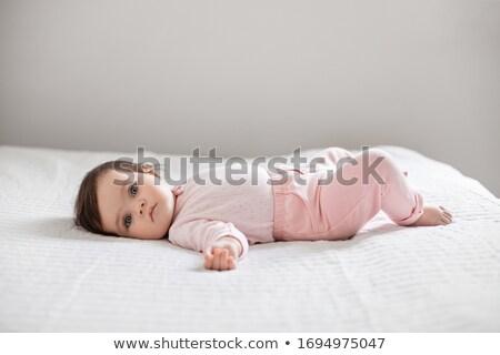 Recién nacido bebé cuatro cinco meses atrás Foto stock © robuart