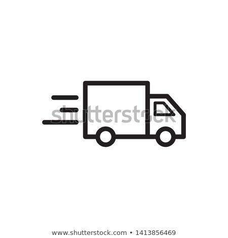 Szállítás jármű teherautó autó egyszerű vektor Stock fotó © karetniy