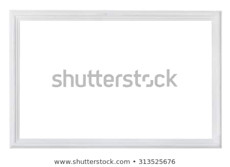 Wooden painted picture frame Stock photo © olira