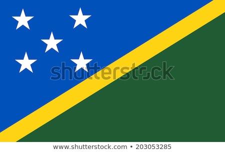 Solomon Islands flag, vector illustration on a white background Stock photo © butenkow