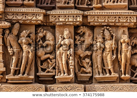 Templo piedra alivio famoso indio turísticos Foto stock © dmitry_rukhlenko