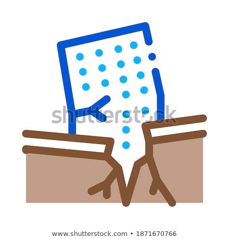 дома крушение икона вектора иллюстрация Сток-фото © pikepicture