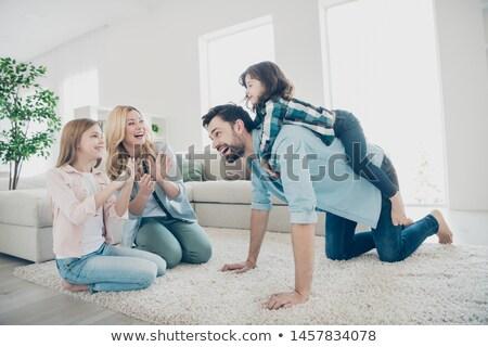 famille · heureuse · humeur · famille · Kid · herbe - photo stock © pressmaster