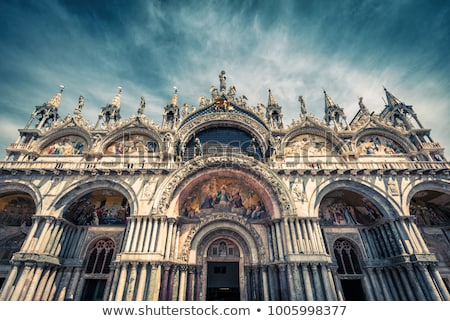 Bazilika Velence porta díszítések szépség részletek Stock fotó © wjarek