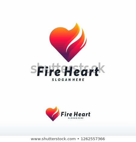 Heart in Fire Stock photo © deyangeorgiev