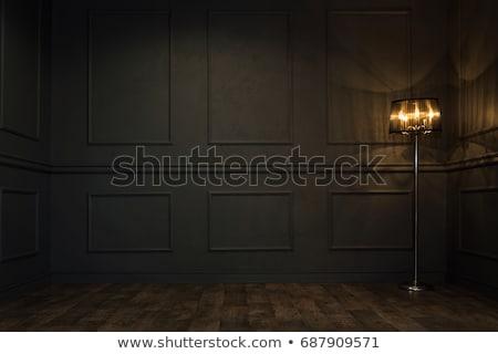 Sötét régi tapéta ezüst díszek fekete textúra Stock fotó © jamdesign
