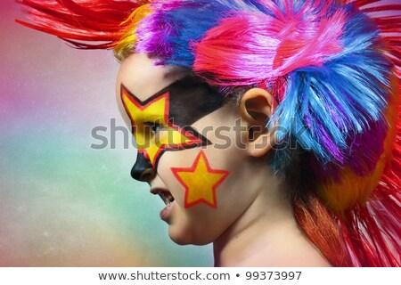 Rock'ta Kadın Yüzü Stok fotoğraf © Oxygen64