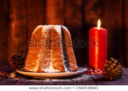christmas · cake · gouden · verona · Blauw · plaat - stockfoto © aladin66