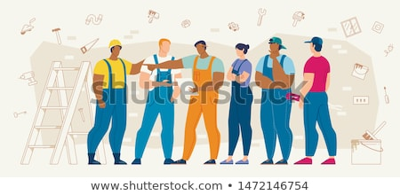 construction worker thinking stock photo © arenacreative