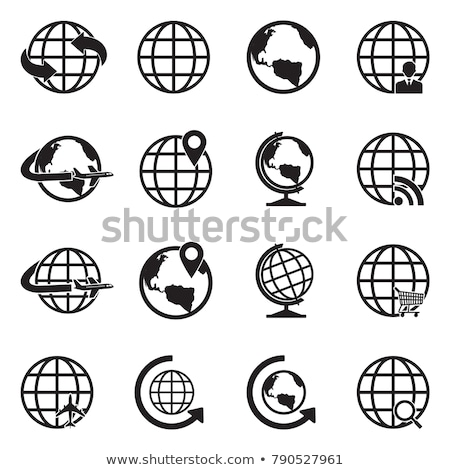 стилизованный · сфере · иконки · фон · свечу · мяча - Сток-фото © adamson