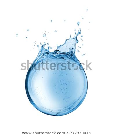 Drop Of Water With Globe Stock photo © adamson