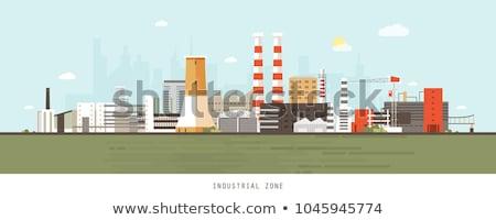 przemysłowych · wieża · wcześnie · rano · świetle - zdjęcia stock © emiddelkoop