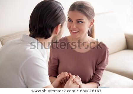 Adam bakıyor eş sevmek çift gözlük Stok fotoğraf © photography33