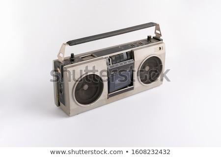 audio · kazetta · játékos · doboz · rádió · retro - stock fotó © deyangeorgiev