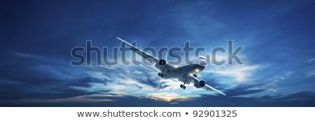 Foto stock: Noite · vôo · panorâmico · tiro · alto