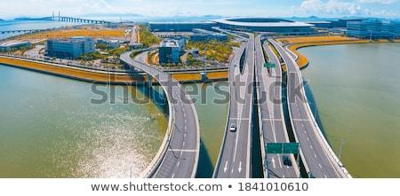 cityscape · ponte · arranha-céu · Ásia · cidade · pôr · do · sol - foto stock © cozyta