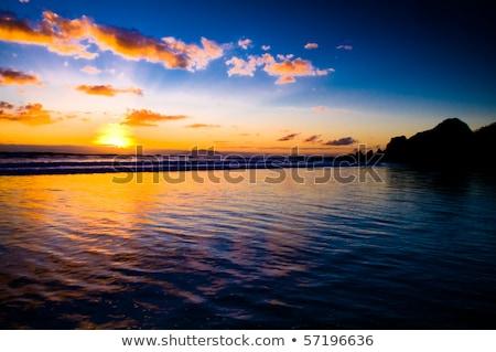 линия · пляж · район · Кипр - Сток-фото © vichie81