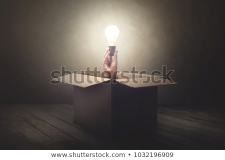 pensando · fora · caixa · branco - foto stock © bbbar