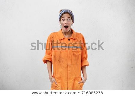 женщины электрик ударных модель волос кабеля Сток-фото © photography33