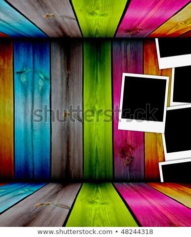 Colorido cerca três fotos parede Foto stock © vkraskouski