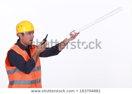 Concerned traffic guard reporting a problem Stock photo © photography33