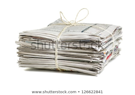 Stock photo: Bundles of newspapers for recycling