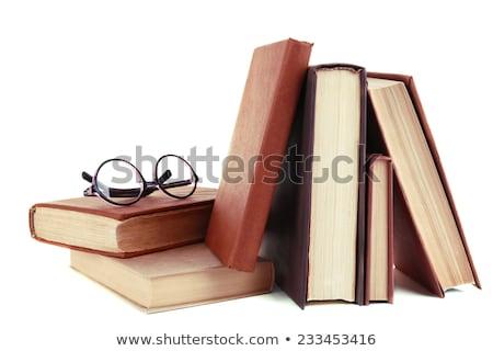 очки для чтения книгах изолированный белый книга свет Сток-фото © tehcheesiong