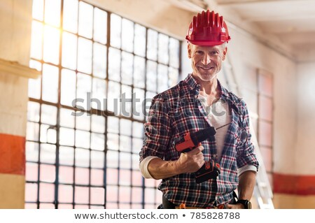 A mature mason building a wall. Stock photo © photography33