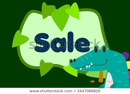 Crocodile Restaurant Banner Stock photo © benchart