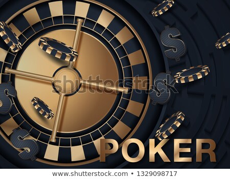 gambling illustration with casino elements on white background Stock photo © articular