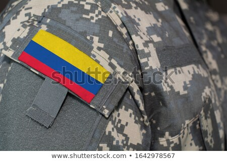 exército · Colômbia · quadro · guerra · serviço · silhueta - foto stock © perysty