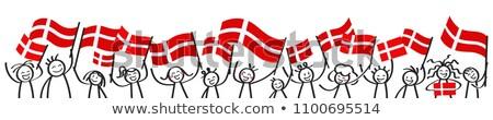 политический флаг Дания Мир стране Сток-фото © perysty