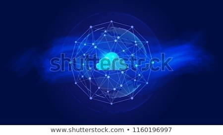 クラウドネットワーク 青 セキュリティ 雲 グラフ ファイル ストックフォト © REDPIXEL