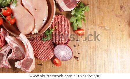 fresh chicken meat sausage Stock photo © shutswis