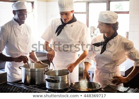 chef stirring pan stock photo © photography33
