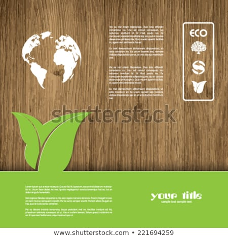 Ecology green background for eco friendly covers or brochures, with colorful leaves and water drops Stock photo © DavidArts