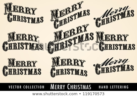 Selection of Vintage Merry Christmas lettering Stock photo © fenton
