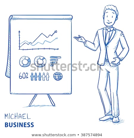 Man drawing on flip chart Stock photo © photography33